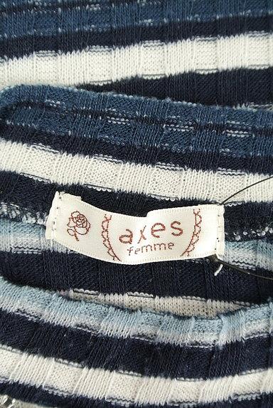 axes femme(アクシーズファム)の古着「装飾ボーダーカットソー(ニット)」大画像6へ