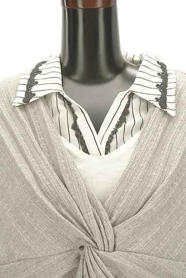 axes femme(アクシーズファム)の古着「ツイストニットドッキングブラウス(カットソー・プルオーバー)」大画像4へ