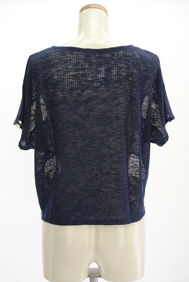 axes femme(アクシーズファム)の古着「花刺繍シフォンボーダーニット(ニット)」大画像2へ