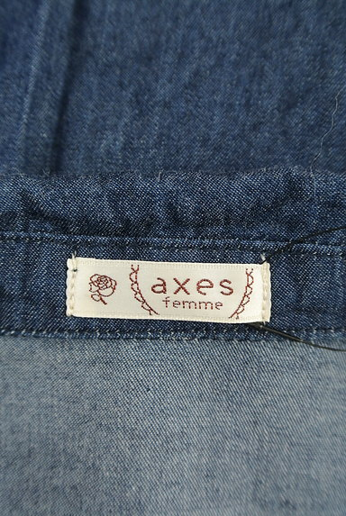 axes femme(アクシーズファム)の古着「ガーリーダンガリーシャツワンピース(ワンピース・チュニック)」大画像6へ