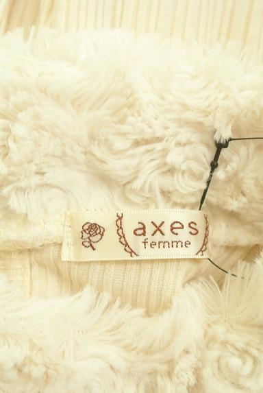 axes femme(アクシーズファム)の古着「エコファーハイネックリブカットソー(カットソー・プルオーバー)」大画像6へ