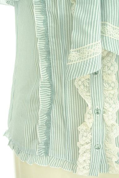 axes femme(アクシーズファム)の古着「タイリボンストライプ柄シフォンブラウス(ブラウス)」大画像5へ