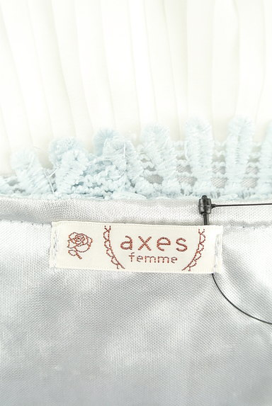 axes femme(アクシーズファム)の古着「花柄レース×シフォンプリーツカットソー(カットソー・プルオーバー)」大画像6へ