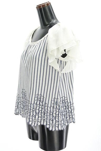 axes femme(アクシーズファム)の古着「シフォンスリーブカットソー(カットソー・プルオーバー)」大画像3へ