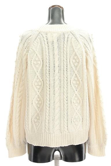 SM2(サマンサモスモス)の古着「ボリューム袖ケーブル編みカーデ(カーディガン・ボレロ)」大画像2へ