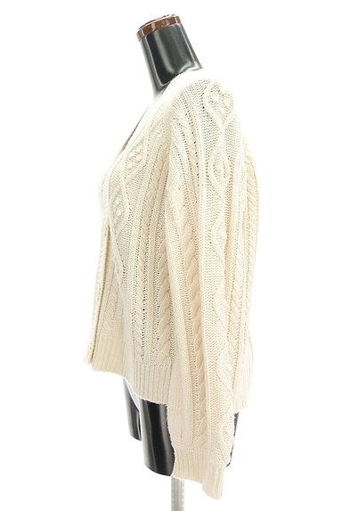SM2(サマンサモスモス)の古着「ボリューム袖ケーブル編みカーデ(カーディガン・ボレロ)」大画像3へ