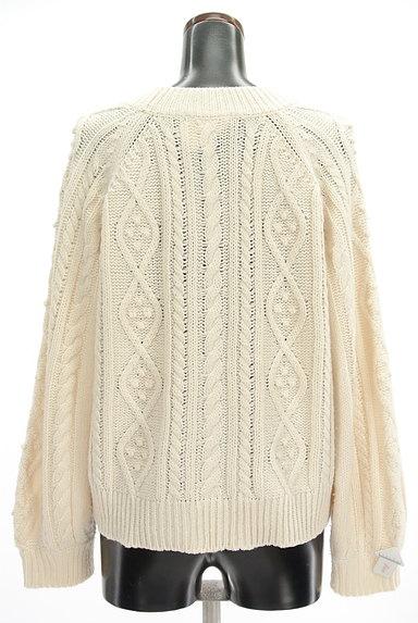 SM2(サマンサモスモス)の古着「ボリューム袖ケーブル編みカーデ(カーディガン・ボレロ)」大画像4へ
