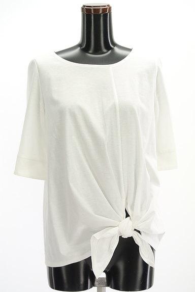 UNTITLED(アンタイトル)の古着「裾リボン5分袖カットソー(Tシャツ)」大画像1へ