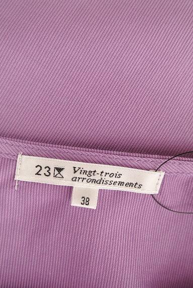 23区(23ク)の古着「袖ギャザー五分袖ブラウス(カットソー・プルオーバー)」大画像6へ