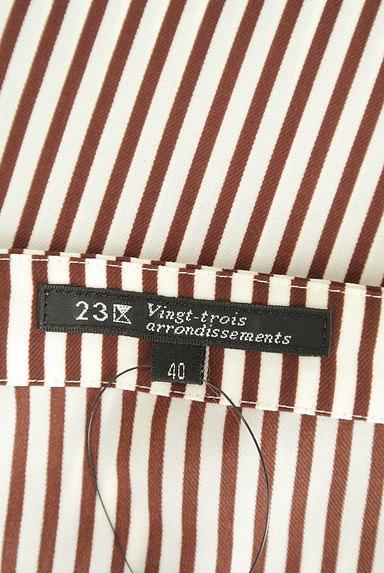 23区(23ク)の古着「ストライプシフォンカットソー(カットソー・プルオーバー)」大画像6へ