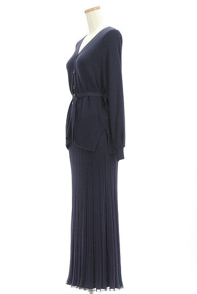 JUSGLITTY(ジャスグリッティー)の古着「ベルト付ニット×スカートセット(セットアップ(ジャケット+スカート))」大画像3へ