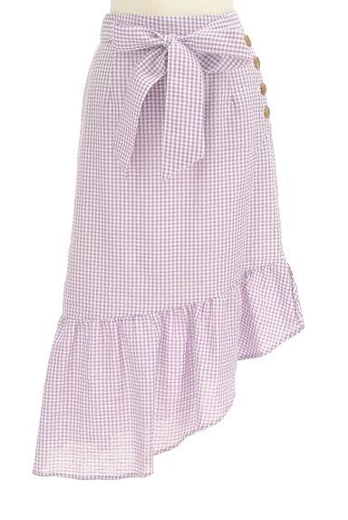 Lily Brown(リリーブラウン)の古着「イレギュラーフリルヘムスカート(ロングスカート・マキシスカート)」大画像1へ