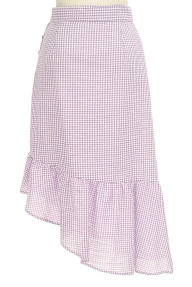 Lily Brown(リリーブラウン)の古着「イレギュラーフリルヘムスカート(ロングスカート・マキシスカート)」大画像2へ