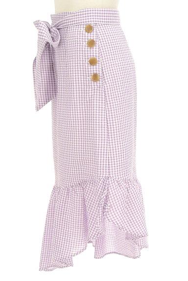 Lily Brown(リリーブラウン)の古着「イレギュラーフリルヘムスカート(ロングスカート・マキシスカート)」大画像3へ