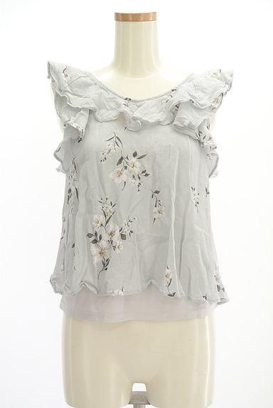 Snidel(スナイデル)の古着「花柄フリルティアードトップス(カットソー・プルオーバー)」大画像1へ