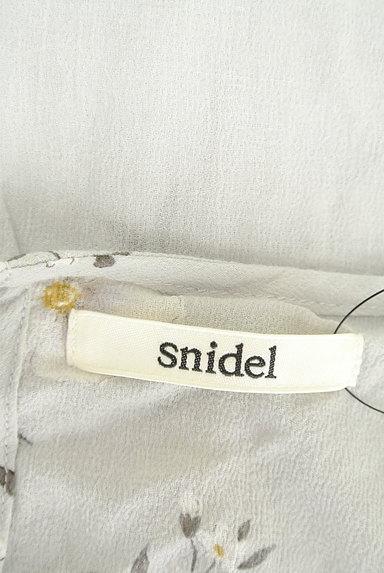 Snidel(スナイデル)の古着「花柄フリルティアードトップス(カットソー・プルオーバー)」大画像6へ