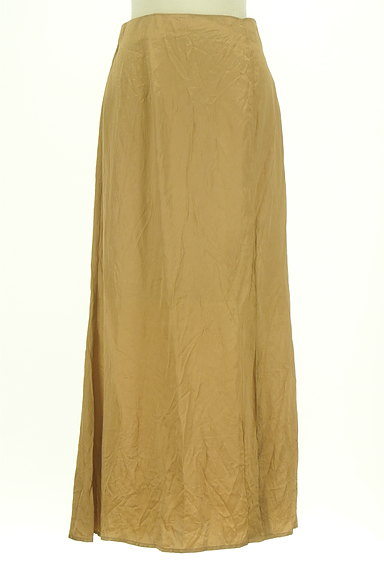 Snidel(スナイデル)の古着「シャイニーサテンロングスカート(ロングスカート・マキシスカート)」大画像1へ