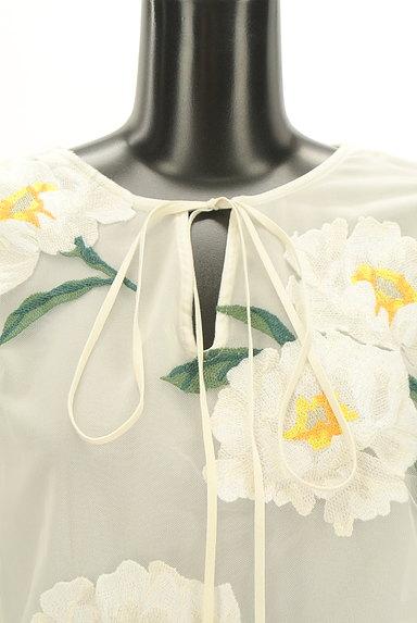 Snidel(スナイデル)の古着「フローラル刺繍チュールカットソー(カットソー・プルオーバー)」大画像4へ