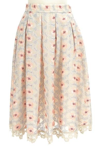 Lily Brown(リリーブラウン)の古着「フラワーカットワークミモレスカート(ロングスカート・マキシスカート)」大画像1へ