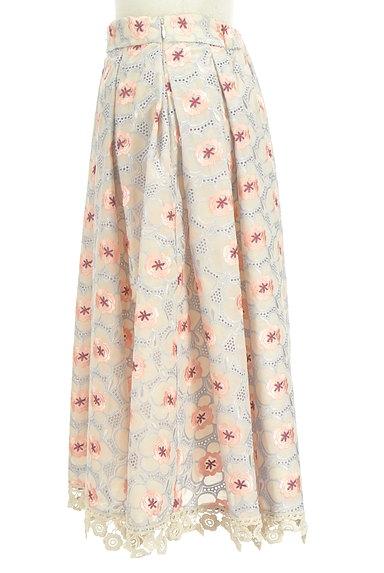 Lily Brown(リリーブラウン)の古着「フラワーカットワークミモレスカート(ロングスカート・マキシスカート)」大画像3へ