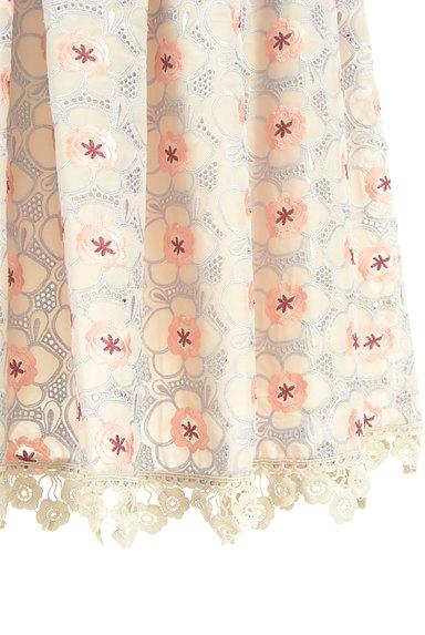 Lily Brown(リリーブラウン)の古着「フラワーカットワークミモレスカート(ロングスカート・マキシスカート)」大画像5へ