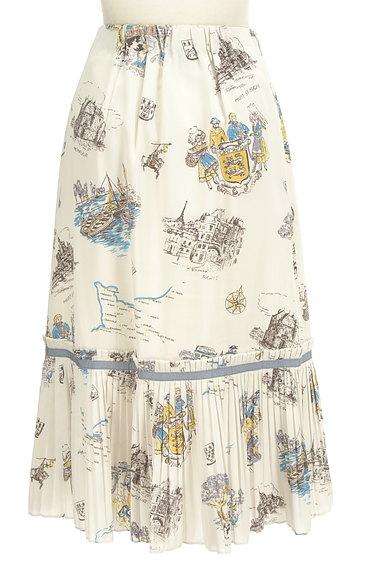 Lily Brown(リリーブラウン)の古着「西洋プリント裾プリーツスカート(ロングスカート・マキシスカート)」大画像2へ