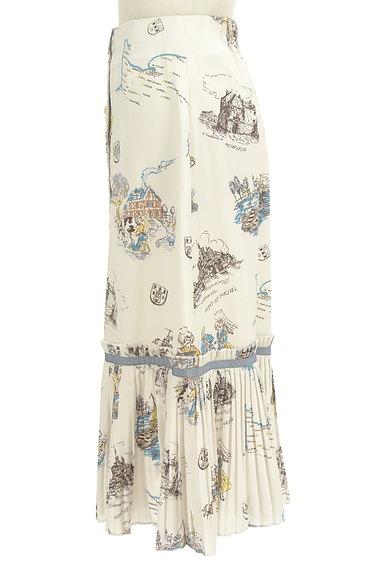 Lily Brown(リリーブラウン)の古着「西洋プリント裾プリーツスカート(ロングスカート・マキシスカート)」大画像3へ