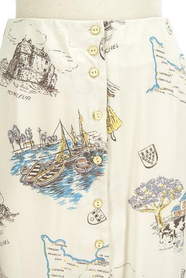 Lily Brown(リリーブラウン)の古着「西洋プリント裾プリーツスカート(ロングスカート・マキシスカート)」大画像4へ