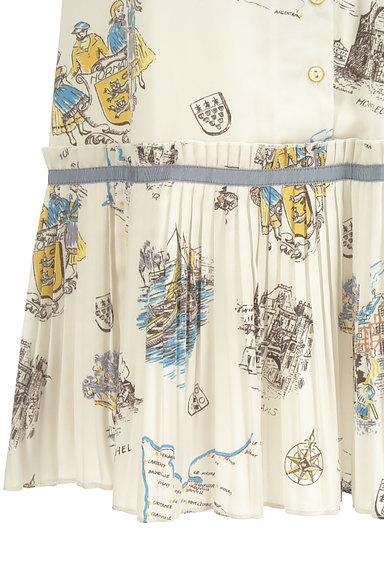 Lily Brown(リリーブラウン)の古着「西洋プリント裾プリーツスカート(ロングスカート・マキシスカート)」大画像5へ