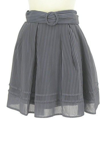 Lily Brown(リリーブラウン)の古着「ストライプタックミニスカート(ミニスカート)」大画像1へ