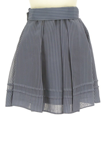 Lily Brown(リリーブラウン)の古着「ストライプタックミニスカート(ミニスカート)」大画像2へ