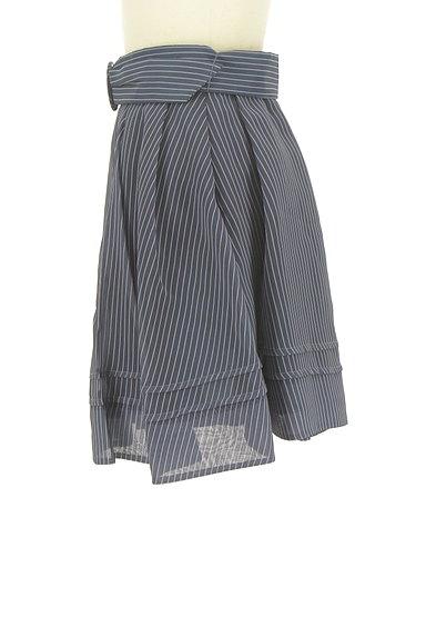 Lily Brown(リリーブラウン)の古着「ストライプタックミニスカート(ミニスカート)」大画像3へ