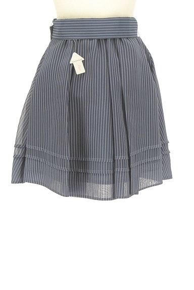 Lily Brown(リリーブラウン)の古着「ストライプタックミニスカート(ミニスカート)」大画像4へ