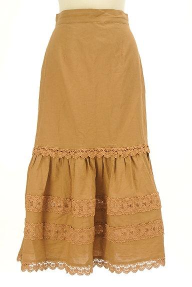 Lily Brown(リリーブラウン)の古着「レース付コットンリネンスカート(ロングスカート・マキシスカート)」大画像1へ