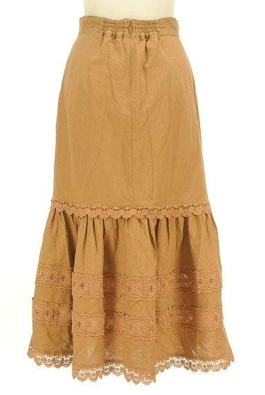 Lily Brown(リリーブラウン)の古着「レース付コットンリネンスカート(ロングスカート・マキシスカート)」大画像2へ