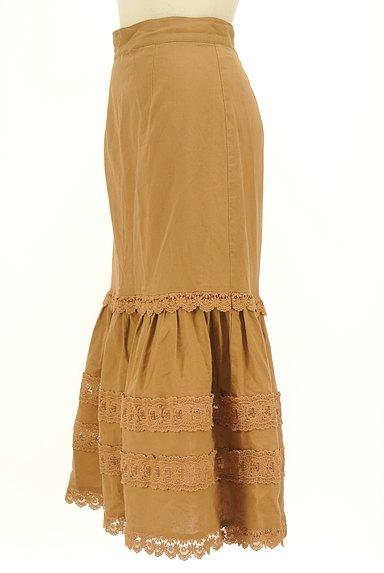 Lily Brown(リリーブラウン)の古着「レース付コットンリネンスカート(ロングスカート・マキシスカート)」大画像3へ