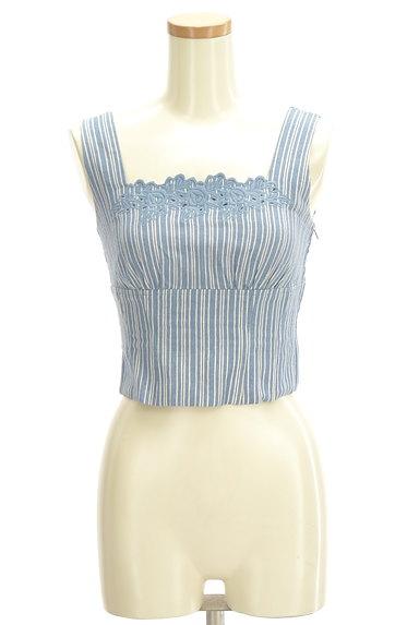 Lily Brown(リリーブラウン)の古着「刺繍ストライプコンパクトカットソー(キャミソール・タンクトップ)」大画像1へ