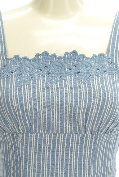 Lily Brown(リリーブラウン)の古着「刺繍ストライプコンパクトカットソー(キャミソール・タンクトップ)」大画像4へ
