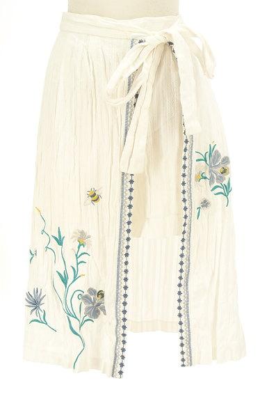 Lily Brown(リリーブラウン)の古着「フラワー刺繍コットンスカート(ロングスカート・マキシスカート)」大画像1へ
