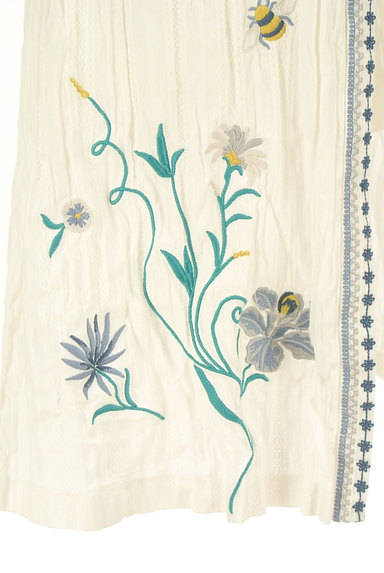 Lily Brown(リリーブラウン)の古着「フラワー刺繍コットンスカート(ロングスカート・マキシスカート)」大画像5へ