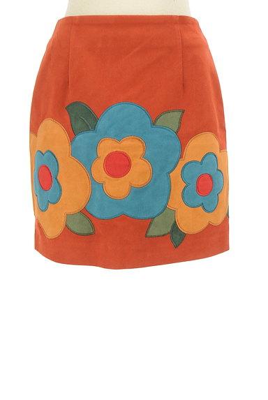 Lily Brown(リリーブラウン)の古着「レトロフラワーミニスカート(ミニスカート)」大画像1へ