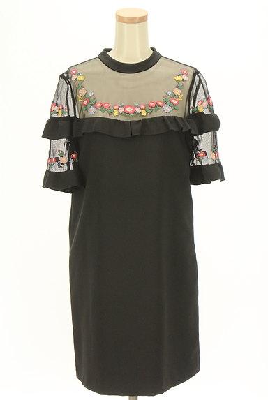 Lily Brown(リリーブラウン)の古着「刺繍シースルー切替ワンピース(ワンピース・チュニック)」大画像1へ