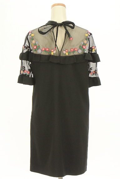 Lily Brown(リリーブラウン)の古着「刺繍シースルー切替ワンピース(ワンピース・チュニック)」大画像2へ