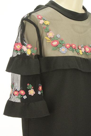 Lily Brown(リリーブラウン)の古着「刺繍シースルー切替ワンピース(ワンピース・チュニック)」大画像4へ