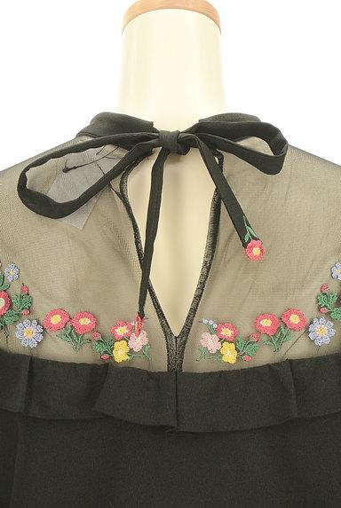 Lily Brown(リリーブラウン)の古着「刺繍シースルー切替ワンピース(ワンピース・チュニック)」大画像5へ