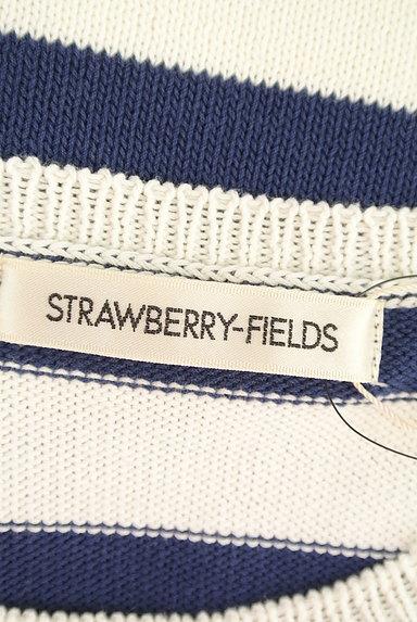 STRAWBERRY-FIELDS(ストロベリーフィールズ)の古着「花モチーフ付きボーダーサマーニット(ニット)」大画像6へ