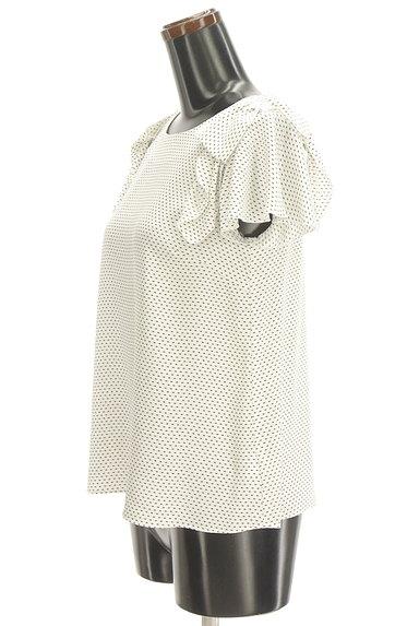 UNIVERVAL MUSE(ユニバーバルミューズ)の古着「リボン付きフレア袖総柄カットソー(カットソー・プルオーバー)」大画像3へ