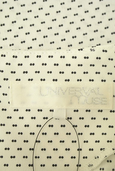 UNIVERVAL MUSE(ユニバーバルミューズ)の古着「リボン付きフレア袖総柄カットソー(カットソー・プルオーバー)」大画像6へ