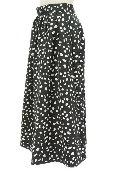 JUSGLITTY(ジャスグリッティー)の古着「ダルメシアン柄ミモレ丈フレアスカート(ロングスカート・マキシスカート)」大画像3へ