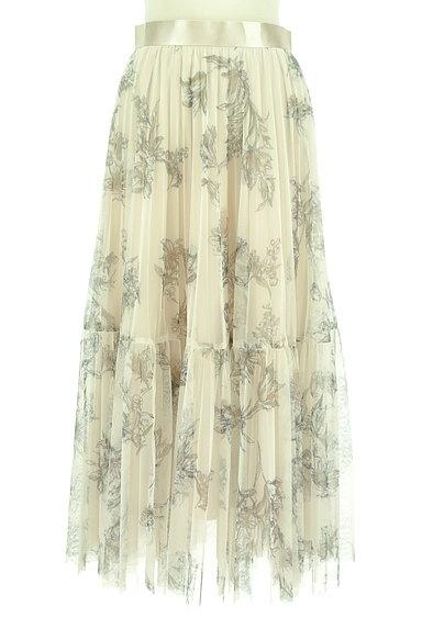 JUSGLITTY(ジャスグリッティー)の古着「花柄ロングチュールプリーツスカート(ロングスカート・マキシスカート)」大画像1へ